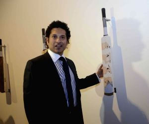 Sachin Tendulkar inaugurates 'Deconstructed innings' - an art exhibition