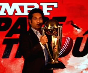ICC Cricket World Cup 2015 trophy exhibition - Sachin Tendulkar