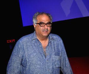 Mumbai: Filmmaker Boney Kapoor during the launch of song Radha from film Tevar, in Mumbai on Nov 25, 2014. (Photo: IANS)