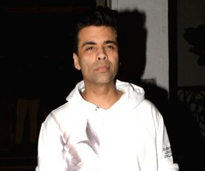 Mumbai: Filmmaker Karan Johar seen at a restaurant in Mumbai's Bandra, on March 22, 2019. (Photo: IANS)