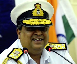 Press conference on INS Vikramaditya