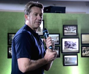 Glenn McGrath at the launch of a wine brand
