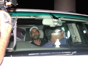 Indian cricketers arrive in Mumbai
