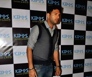 TV stars at Kipos greek restaurant launch