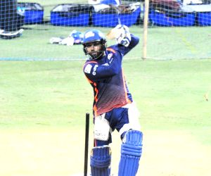 Mumbai Indians practice session