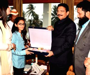 Maharashtra Governor felicitates the winner of Gita Champions League competition