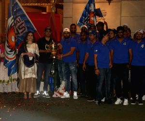 Elated Nita Ambani puts IPL trophy at Lord Krishna's feet