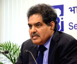 : Mumbai: SEBI Chairman Ajay Tyagi during a press conference at SEBI head office in Mumbai, on March 28, 2018. (Photo: IANS).