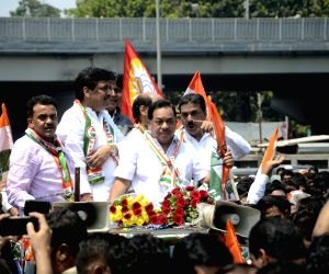Narayan Rane files nominations for by-polls to Bandra East Assembly