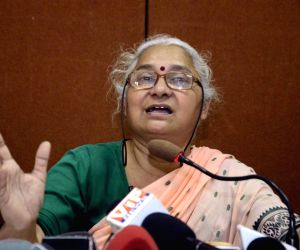 Medha Patkar's press conference