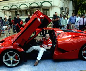 Gautam Singhania during a press conference