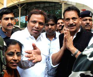 Rajiv Pratap Rudy at Chhatrapati Shivaji Airport