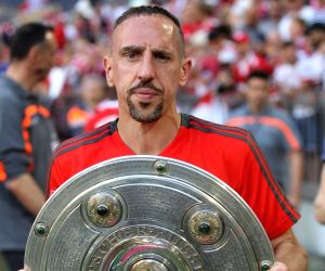 Franck ribery news photos and videos munich may 13 2018 bayern munichs franck ribery holds the trophy of german voltagebd Gallery