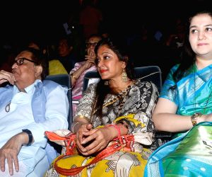 Musician Hridaynath Mangeshkar, singer Sunali Rathod and Krishna Mangeshkar at the launch of Asha Bhosle's sister Meena Mangeshkar-Khadikar's book 'Mothi Tichi Savli', based on the life ...