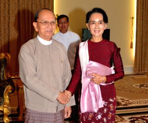 MYANMAR-NAY PYI TAW-PRESIDENT-AUNG SAN SUU KYI-MEETING