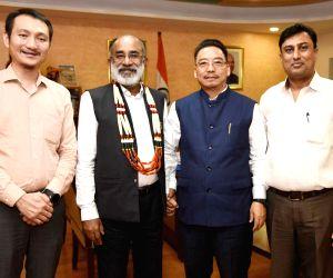 Nagaland's Tourism Minister meets Alphons Kannanthanam