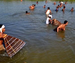 Bhogali Bihu celebrations - community fishing