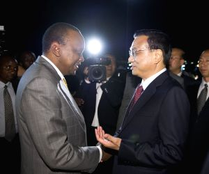 Li Keqiang arrival for a state visit in Nairobi
