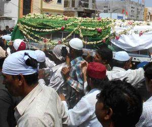 Funeral of Sub-Inspector Siddaiah