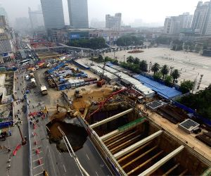 CHINA JIANGXI NANCHANG GROUND COLLAPSE