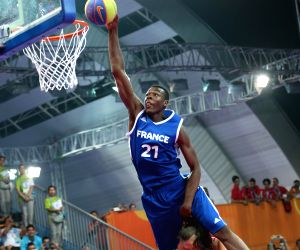 Men's dunk contest final of basketball at the Nanjing 2014  Youth Olympic Games