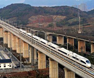 Nanjing (China): High-speed train