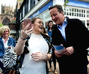 BRITAIN-NANTWICH-GENERAL ELECTION CAMPAIGN-DAVID CAMERON
