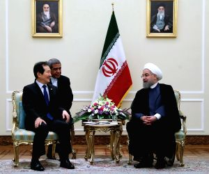 Speaker Chung with Iran president