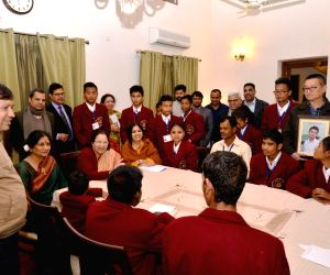 National Bravery Awardees 2017 call on Sumitra Mahajan