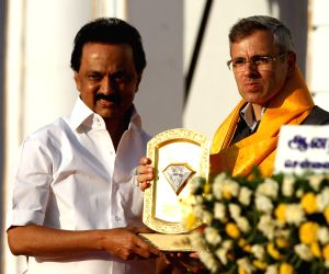 Karunanidhi's birthday celebrations - Yechury , Omar