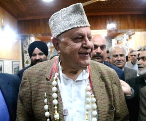 Farooq Abdullah files nomination for Srinagar seat