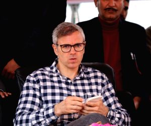 National Conference Vice President Omar Abdullah during a party rally in Jammu and Kashmir's Shopian district on April 300, 2019.