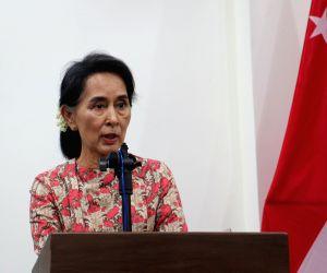 MYANMAR-NAY PYI TAW-SINGAPORE FM-PRESS CONFRENCE