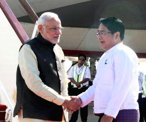 Nay Pyi Taw (Myanmar) : PM Modi arrives in Nay Pyi Taw