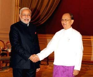 Nay Pyi Taw (Myanmar): PM Modi calls on President of Myanmar