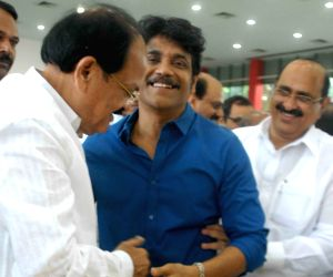 NDA's Vice Presidential candidate Naidu during a programme