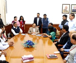 : New Delhi: A delegation of Delhi Government employees meet MoS for Development of North Eastern Region (I/C), Prime Minister's Office, Personnel, Public Grievances & Pensions, Atomic Energy ...