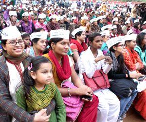 Arvind Kejriwal, Manish Sisodia, Gul Panag at AAP women wing programme