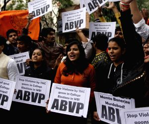 ABVP protest against TMC