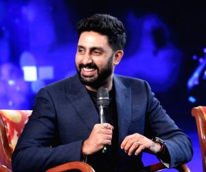 "New Delhi: Actor Abhishek Bachchan at ""NDTV Yuva 2018"", in New Delhi on Sept 16, 2018. (Photo: Amlan Paliwal/IANS)"