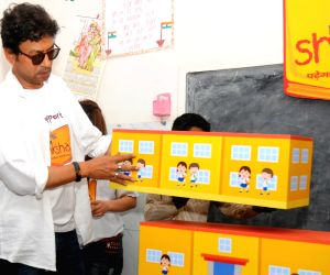 Irrfan Khan at P&G Shiksha school