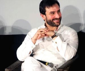 Sharmila Tagore, Javed Akhtar, Saif during a programme at the German Embassy