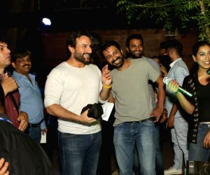 "Promotion of film ""Chef""-Saif Ali Khan, Padmapriya and Raja Krishna Menon"