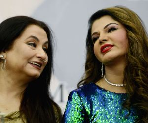 "Rakhi Sawant and Salma Agha at the launch of ""Mere Aansoo"