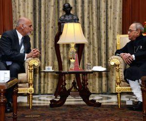 Afghanistan President calls on President Mukherjee