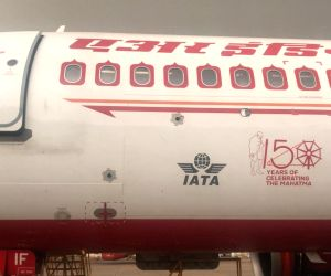 New Delhi: Air India has started flying with the logo of Mahatma Gandhi to commemorate his 150th birth anniversary next year. Right now only two aircraft have been painted with the logo of the Father of the Nation on the left side of their body and t