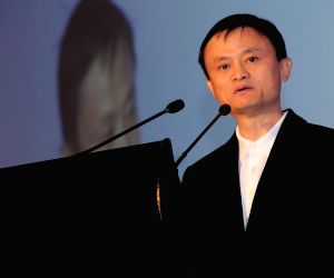 Alibaba founder during Zhejiang China-India business cooperation conference
