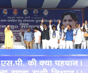 Mayawati attacks both Modi, Congress at Delhi rally