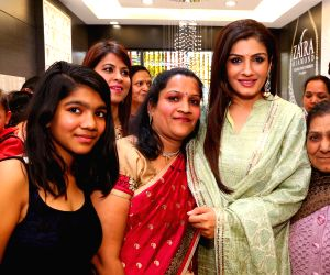 Raveena Tandon at the inauguration of a showroom