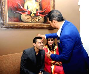 Robert Vadra during a family function